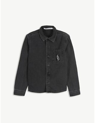 Calvin Klein Jeans Logo cotton denim shirt 4-16 years