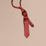 Burberry Modern Cut Geometric Print Silk Twill Tie