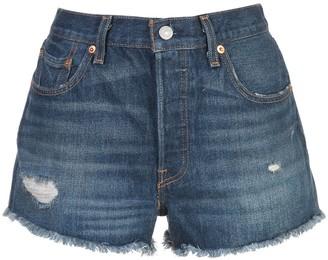 Levi's Distressed Regular Shorts