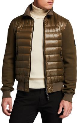 Mackage Men's Collin Puffer-Front Bomber Jacket