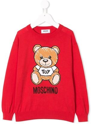 MOSCHINO BAMBINO Logo Bear Print Jumper