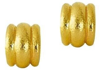 Elizabeth Locke Amalfi 19K Yellow Gold Stud Earrings