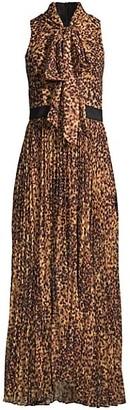 Toccin Tortoise Pussycat Bow Maxi Dress