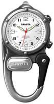 Dakota Mini Clip Microlight Carabiner, Antique Silver Pocket Watch 38426