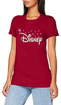 Disney Women's Logo T-Shirt,12 (Size: Medium)