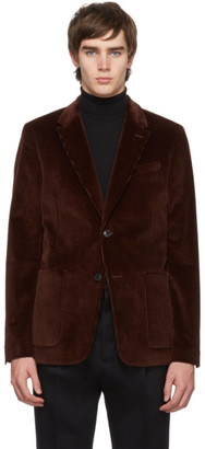 Ami Alexandre Mattiussi Brown Two-Button Patch Pockets Blazer