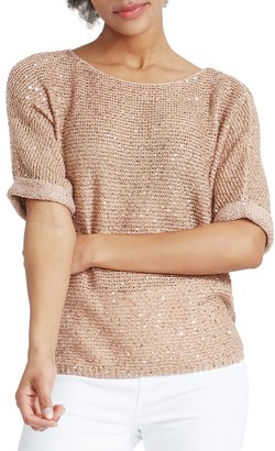Nic+Zoe, Petites Stargazing Sequin Detail Sweater