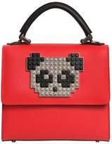 Les Petits Joueurs Mini Alex Metal Panda Leather Bag