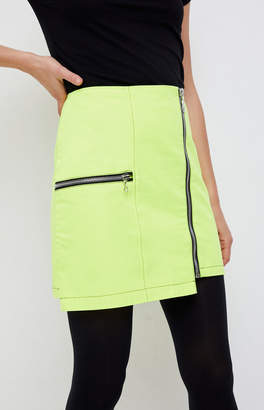 The Ragged Priest Neon Zip Drill Skirt