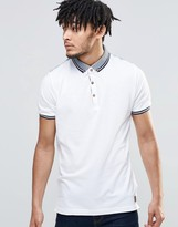 Brave Soul Contrast Rib Polo Shirt
