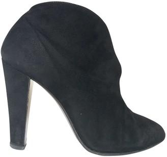 Miu Miu Black Suede Ankle boots