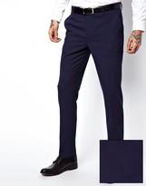 Asos Skinny Fit Suit Pants In Navy