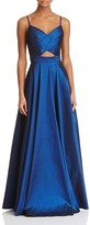 Laundry by Shelli Segal Crossover Cutout Gown