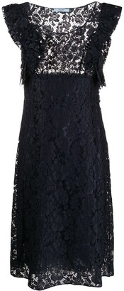 Prada Pre-Owned lace A-line dress