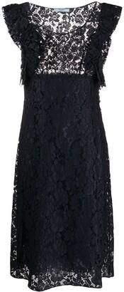 Prada Pre Owned lace A-line dress