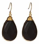 Gold & Onyx Teardrop Sarotte Earrings