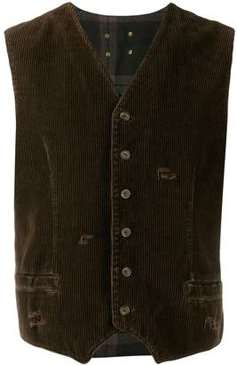 Dolce & Gabbana Pre-Owned 1990's checked panel buttoned vest