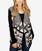 Lucky Brand Printed Open-Front Cardigan