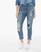 Chico's Destroyed Patchwork Girlfriend Ankle Jeans