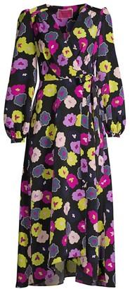 Kate Spade Winter Garden Wrap Midi Dress