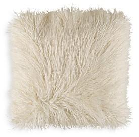 Surya Faux Fur Throw Pillow, 18 x 18