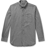 Engineered Garments Button-down Collar Puppytooth Brushed-cotton Shirt - Gray