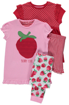 George 2 Pack Assorted Berry Pyjamas