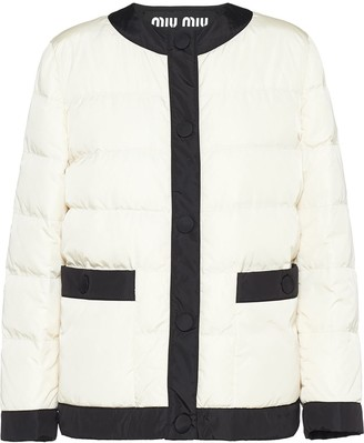 Miu Miu Cropped Puffer Jacket