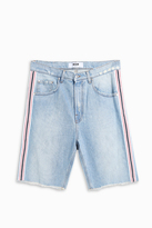 MSGM Stripe Denim Shorts