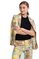 Cynthia Rowley Chinoiserie Print Fitted Blazer