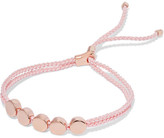 Monica Vinader Linear Bead Rose Gold Vermeil And Woven Bracelet - one size