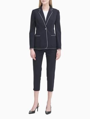 Calvin Klein Scuba Crepe 1 Button Jacket