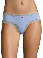 Betsey Johnson Cotton-Blend Lace Hipsters