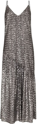 Borgo de Nor Sequin Embroidered Midi Dress