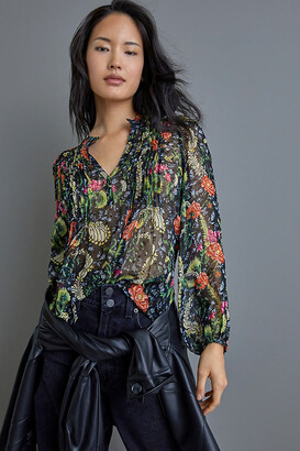 Anthropologie Danae Sheer Classic Buttondown By in Assorted Size S