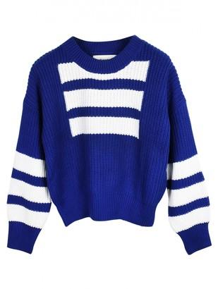 Self-Portrait Blue Cotton Knitwear
