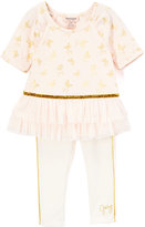 Juicy Couture Pink Butterfly Peplum Tunic & Leggings - Toddler