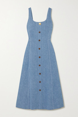 Adam Lippes Denim Midi Dress - Light blue