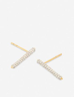 Kendra Scott Raelynn 14ct yellow gold and white diamond stud earrings