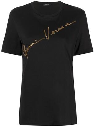 Versace Signature logo-print T-shirt