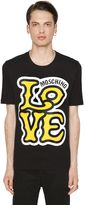 Love Moschino Comic Logo Print Cotton Jersey T-Shirt