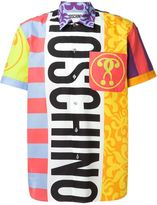 Moschino panelled printed shirt - men - Cotton - 39