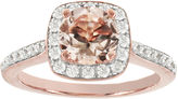 JCPenney MODERN BRIDE Blooming Bridal Genuine Morganite and Diamond 14K Rose Gold Ring