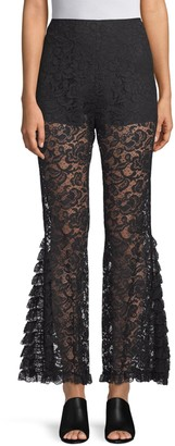 Givenchy Lace Flare Trousers