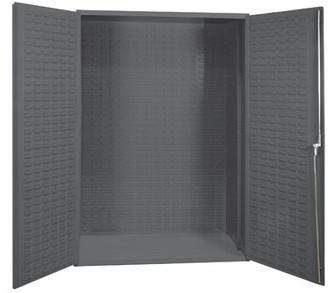 """Durham Manufacturing 72"""" H x 36"""" W x 24"""" D 14 Gauge Welded Steel Heavy Duty Flush Door Style Empty Storage Cabinet Durham Manufacturing"""