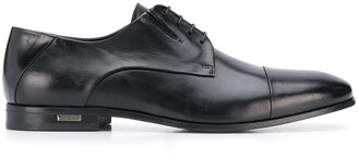 Baldinini Glossy-Finish Pointed Derby Shoes