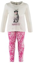 Juicy Couture 2 piece White Cat Tee and Leopard Leggings
