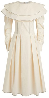 REJINA PYO Faye Wide-Collar Midi Dress
