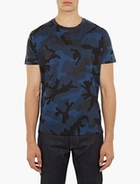 Valentino Blue Camouflage T-shirt