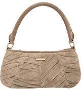 Burberry Pleated Suede Shoulder Bag
